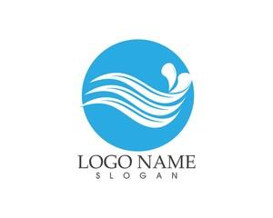 Water wave splash logo vector template