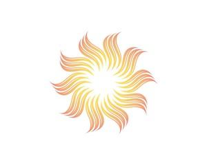 Sun logo vector template