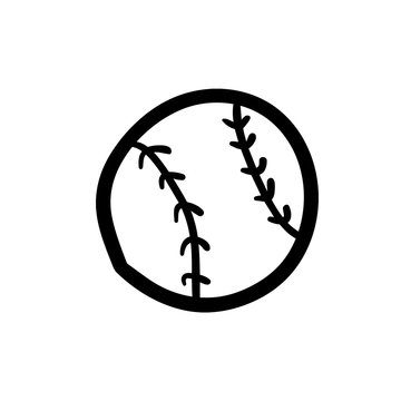 Doodle baseball icon