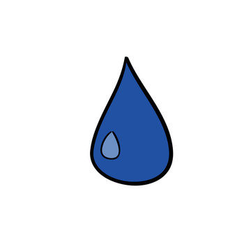 Doodle water drop icon