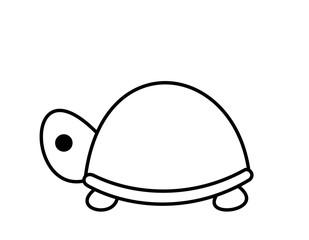 亀(線画)