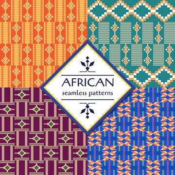 African Ethnic seamless pattern. Geometric design.