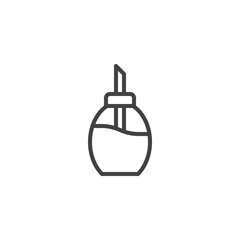 Sugar dispenser outline icon. linear style sign for mobile concept and web design. Sugar bottle simple line vector icon. Symbol, logo illustration. Pixel perfect vector graphics