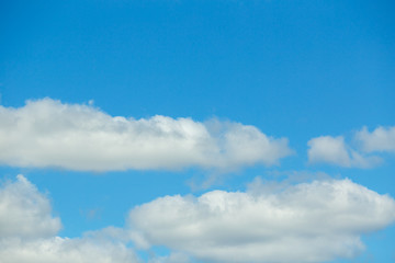 Closeup Blue sky with white clouds background