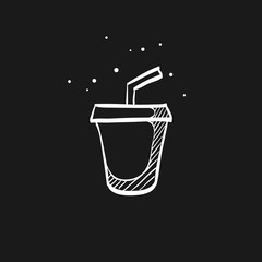 Sketch icon in black - Fast food