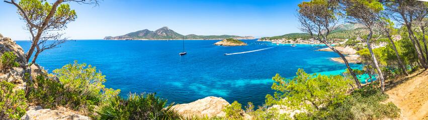 Beautiful island scenery of Sant Elm on Mallorca, Mediterranean Sea