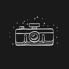 Sketch icon in black - Panorama camera