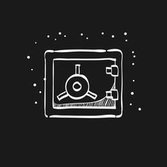 Sketch icon in black - Safe box