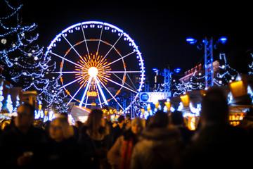 Ferris wheel at Brussels Christmas Market