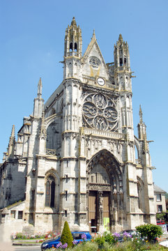 Ville de Vernon, Collégiale Notre-Dame construite au XIe siècle, département de l'Eure, Normandie, France