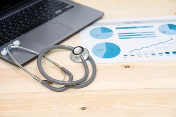 Stock market hospital healthcare finance account report big data