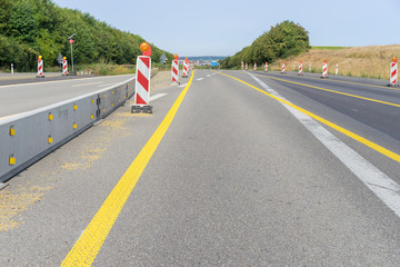 Baustelle an der Autobahn