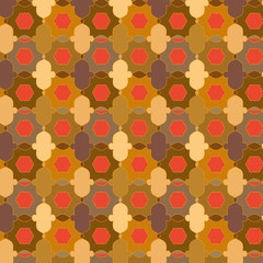colorful ethnic geometric pattern in Arabic and Islamic style. simple bright pattern for textile, fabric, wallpaper, backdrops, template and creative surface designs. pattern swatch at eps. file