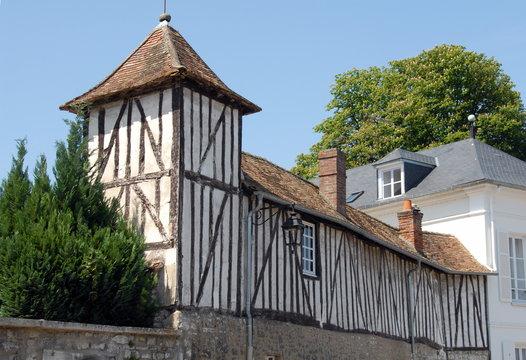 Ville de Vernon, maison à pans de bois, quartier historique de la ville, département de l'Eure, Normandie, France