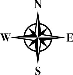 Kompass, Logo, Zeichen, Aufkleber Label
