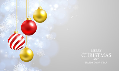 Christmas lights bokeh background with party vector poster