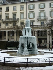 fountain in ice