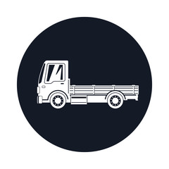 Mini Truck without Cargo Icon , Delivery Services, Logistics, Shipping and Freight of Goods, Vector Illustration