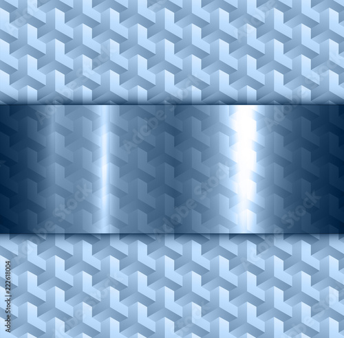 Blue Abstract Background 3d Transparency Pattern