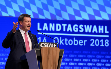 Christian Social Union (CSU) holds party meeting in Munich
