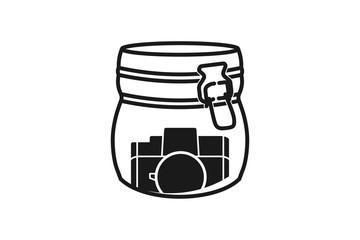 Jar and photography icon logo design inspiration