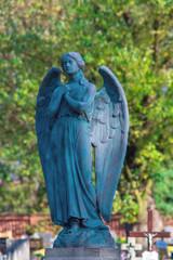 Big stone angel on a cemetery.