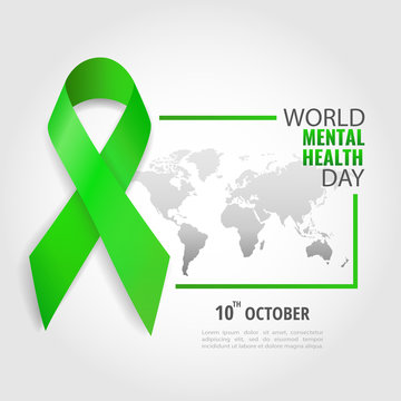 Vector Illustration on the theme World Mental Health Day