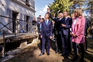 Emmanuel Macron at the Villa Viardot in Bougival