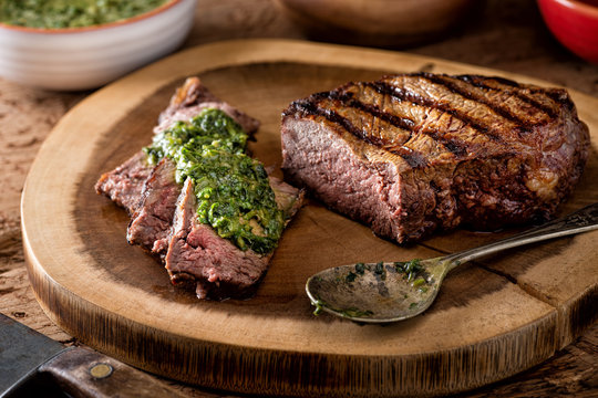 Argentine Style Steak with Chimichurri Sauce