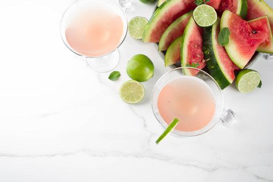 Watermelon martini cocktail