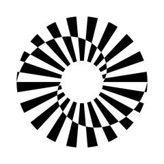 Circle rotation design element.