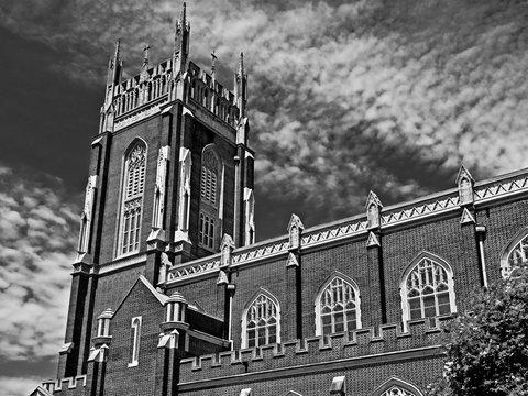 Holy Name Of Jesus Catholic Church Loyola Campus B&W