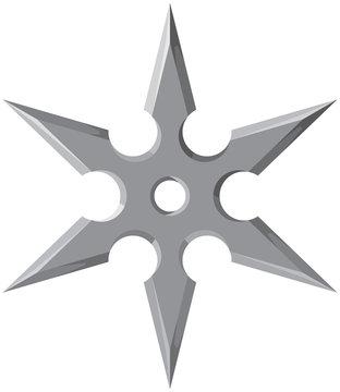 Ninja star - shuriken vector illustration