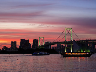 Pink Sunset at Tokyo Bay