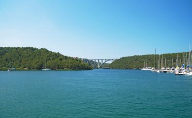 Bridge over the river Krka. Sibenik Bridge