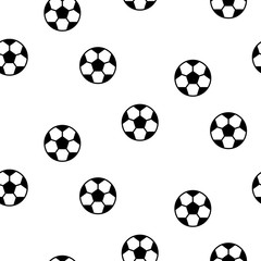 Football ball seamless vector pattern background.