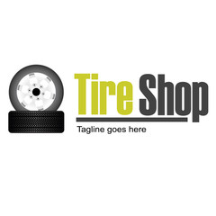 Tire Shop logo template design vector illustration for your company
