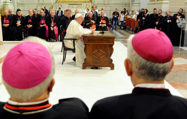 Pope Francis meets with the Sicilian Clergy at the Cathedral of Palermo