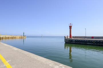 Obraz Port w Łebie - fototapety do salonu