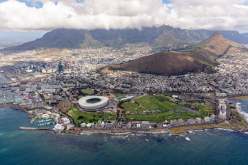 Cape Town Overview from Helicopter