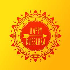 Happy Dussehra. Festival Of Dussehra vector banner