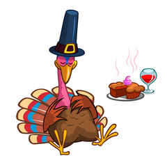 Cartoon turkey character for Thanksgiving