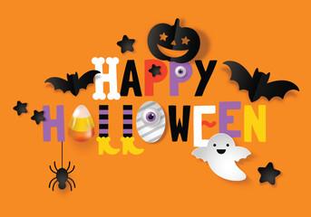 Happy Halloween banner design