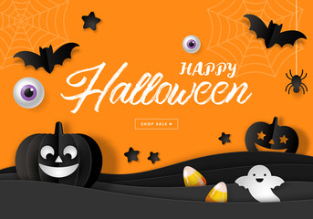 Halloween sale banner design