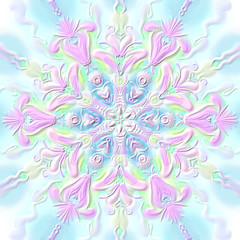 Christmas snowflake relief convex pink-blue