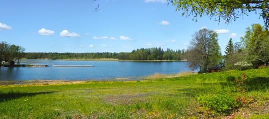 finnish lake in summer