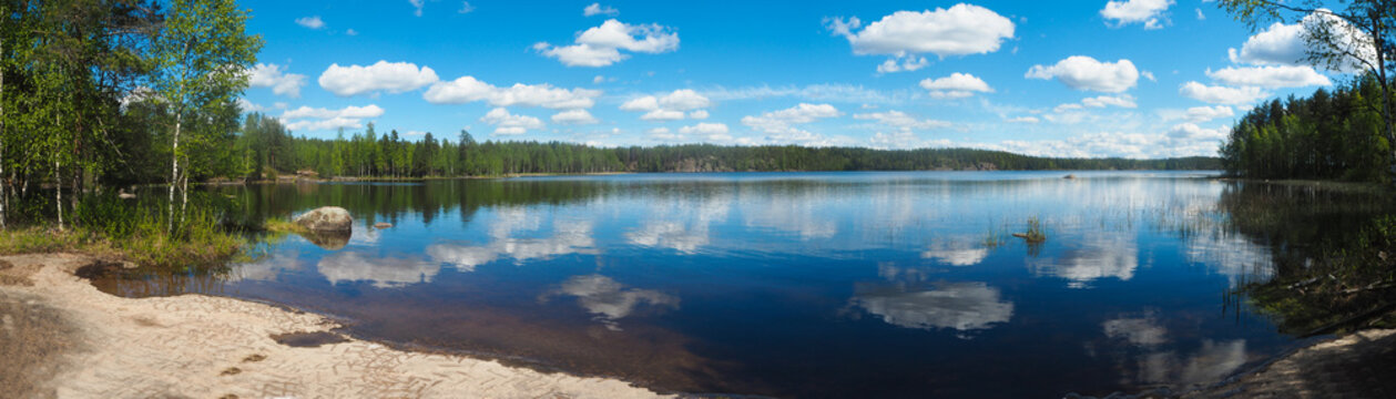 finnish lake in summer
