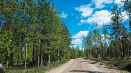 rural road in finland