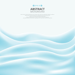 Abstract of wave soft blue sea gradient pattern background.