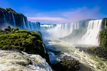 Water cascading over the Iguacu falls in Brazil Wall mural